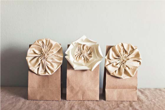 Silk flowers by Posh Paperie