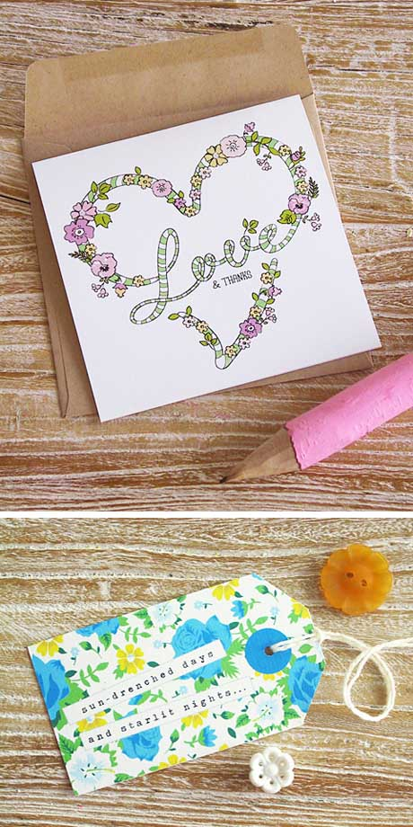 Thank you card and gift tag