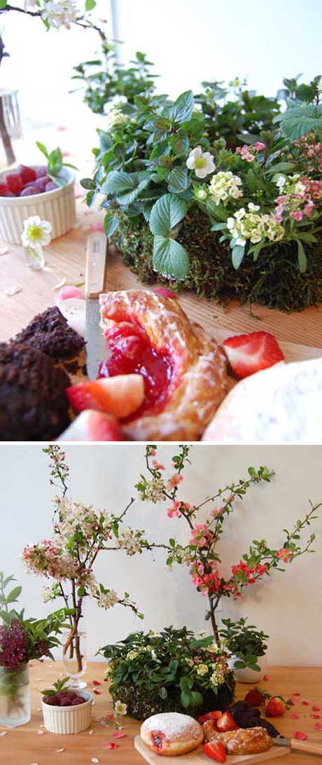 Strawberry wreath by Studio Choo Flowers via Design Sponge