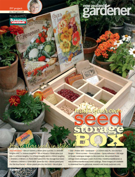 DIY seed storage box