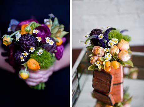 Chamomile colourful bouquets