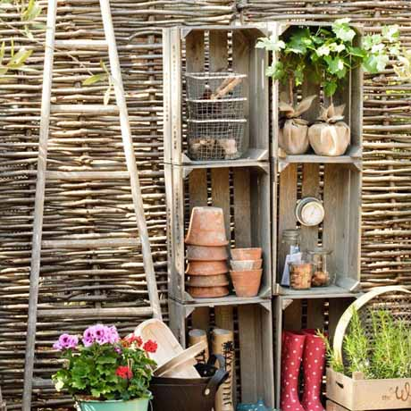 garden storage ideas flaming petal blog