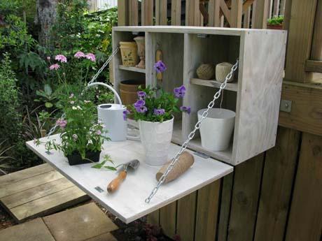 DIY garden storage cabinet