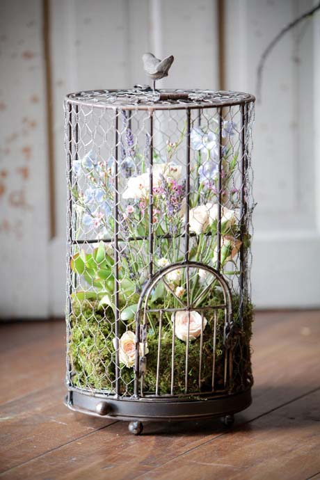 Wildflowers in birdcage