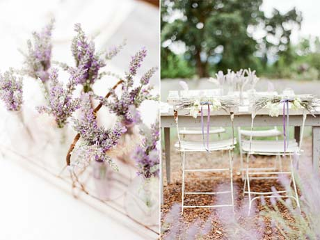 Lavender table decoration