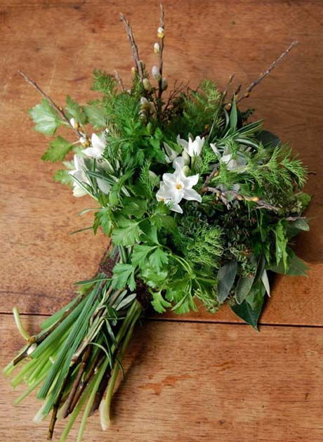 winter herb bouquet