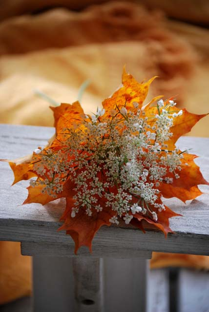 Autumn leaves bouquet – Flaming Petal Blog
