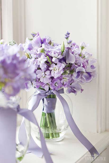 Purple sweetpeas