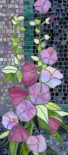 hollyhock art